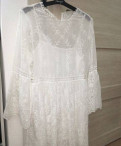 Норковая шуба sapphire, платье Zara белое