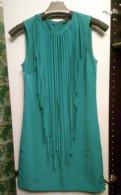 Изумрудное шёлковое платье с бахромой Zara, женские джинсы размер 33 купить