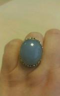 Кольцо серебро и натуральный халцедон