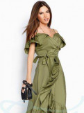 Кружевное платье prada, новый Сарафан открытые плечи Gepur