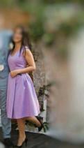 Джинсы для девушек на высокой талии, платье лиловое S, Лебяжье