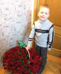 Розы красные в корзине 101 шт