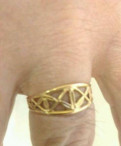Кольцо золотое 585проба, вес 2.3гр