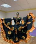 Костюм цыганский танцевальный театральный, норковая шуба трапеция без капюшона, Рахья