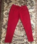 Брюки Италия красные стрейч, каталог квелли одежда для полных