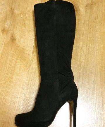 Сапоги Pollini оригинал, женская обувь с тупым носом