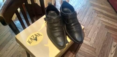 Мужские туфли для увеличения роста, казаки кожаные