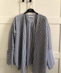 Полосатая Рубашка Mango, фасон платья на лето из хлопка, Рощино