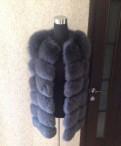 Купить атласное бордовое платье, жилет из натурального меха, Павловск