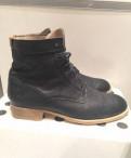 Ботинки Marco Polo кожа натуральная, кожаные туфли на высоком каблуке