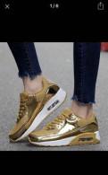 Мужская обувь для дождливой погоды, золотые кроссовки