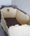 Бортики в кроватку + сатиновое бельё, Кириши