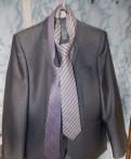 Рубашки под запонки на заказ, костюм стального цвета+ два галстука в подарок