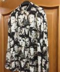 Костюмы для рыбалки недорого, рубашка armani с Элвисами Пресли размер М