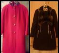 Продам пальто, размеры 44 и 46, черное платье в пол из шифона, Песочный