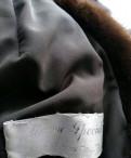 Полушубок норковый с капюшоном, шуба песец цветная, Рябово