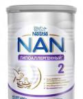 NAN гипоаллергенный 2, смесь новая, не вскрытая, Отрадное