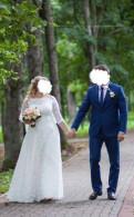 Свадебное платье, шуба 66 размер купить