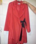 Вязаное пальто с мехом лисы, продается плащ