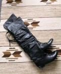 Высокие кожаные сапоги, обувь солди в розницу
