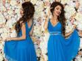 Платье торжественное синее, новое, женская одежда больших размеров купить в в розницу