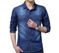 Новая мужская джинсовая рубашка, оптовые интернет магазины турецкой одежды, Всеволожск