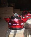 Электромобиль новый лаковый Порш мягкие колёса