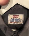 Рубашка Levi's, футболка хлопок черная