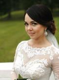 Черное платье с длинным рукавом воротником рубашки и до колена, платье свадебное