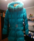 Платье с воротником хомут из трикотажа, зимняя куртка (пальто)