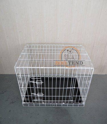 Белые клетки для собак/кошек, 2 двери, поддон, скл