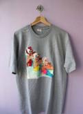 Джинсовые шорты мужские рваные, футболка Supreme Swimmers
