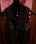 Куртка мужская зимняя кожзам, свадебный жилет + пластрон+платок