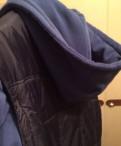 Пуховик с съёмными рукавами, мужское пальто коричневое