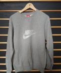 Cвитшот Nike (серый) размер L, next мужская одежда размеры, Романовка