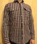 Рубашка в клетку bikkembergs, мужская одежда в стиле сафари