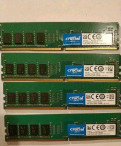 Оперативная память 16 Gb (4шт*4Гб) DDR-4 Crucial 2, Кировск