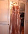 Вечернее платье + перчатки, пальто с элементами меха