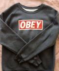Свитшот obey, купить мужское пальто в интернет магазине недорого
