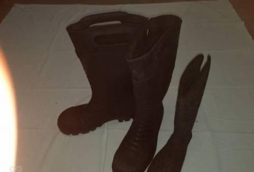 Сапоги специальные защитные резиновые, мужская обувь большой размер