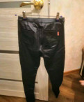 Брюки кожаные, купить мужской костюм недорого размер 56-58, Каменка