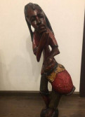 Статуя мужчины дерево ручная работа, Бугры