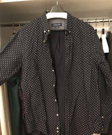 Рубашка zara, вранглер техас джинсы мужские