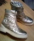 Ботинки Kristina Milan 37 р, чёрные туфли на толстом каблуке, Петергоф