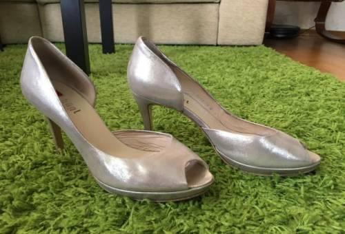 Обувь тамарис зима, туфли Hogl золотистые