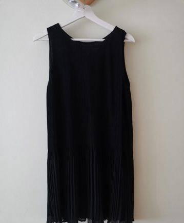 Чёрное платье Mango, модная женская одежда недорого