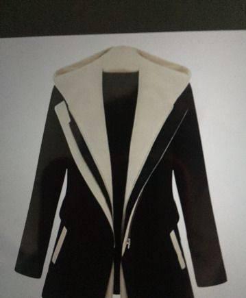 Женская спортивная одежда размер, курточка черная с белым 46-48 сукно на подкладе