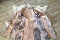 Дубленка новая, свадебное платье для беременных из шелка