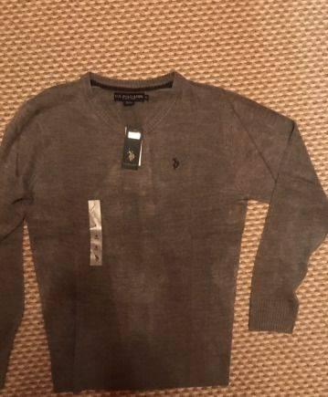 Рубашка остин в цветочек, джемпер U.S.Polo