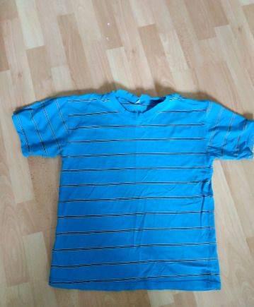 Мужские шорты синего цвета, футболка 48-50 р-р
